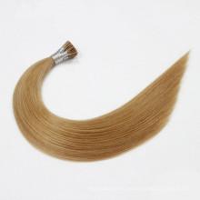Prebonded eu derrubo o cabelo indiano do fornecedor por atacado do cabelo das extensões do cabelo