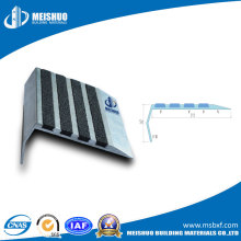 Safety Aluminum Stair Tread Nosing with Carborundum Strips
