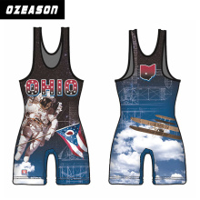 Ozeason Full Sublimation Wrestling Singlet