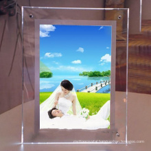 2016wholesale Crystal glass Photo Frame for decoration Gifts or Souvenirs 3d laser engrave