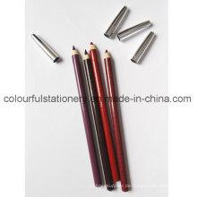 Wooden Soft Waterproof Lip Liner Bleistift Augenbrauen Bleistift