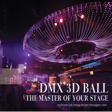 Esfera de bolas DMX video 3D LED IP65