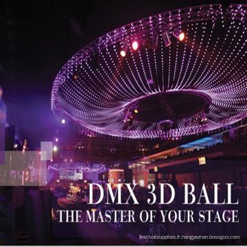 DMX vidéo 3D LED Ball sphère IP65