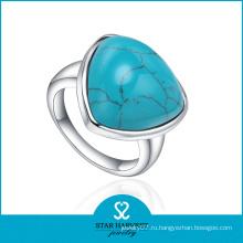 Серебряные кольца высокого качества с бирюзой