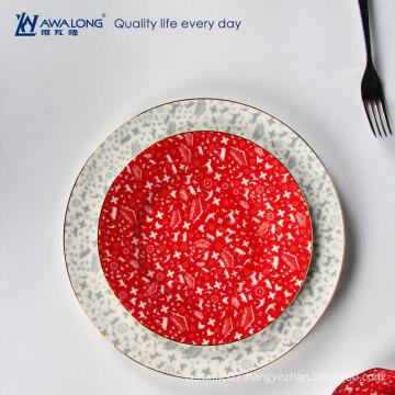full decal pattern dinner plates ceramic tableware fine bone china