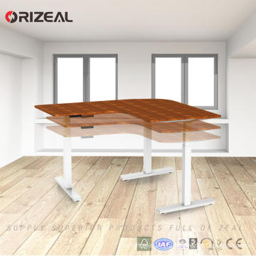 2018 China latest modern design L shaped height adjustable office table frame