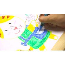 6 colour wax crayon set