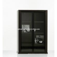 Italiano moderno madera vidrio puerta vitrina (SM-D29)