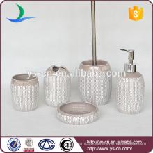 Venta al por mayor de oído en relieve de arroz de diseño de accesorios de baño de cerámica