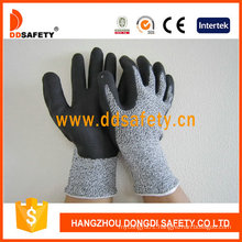 Nitrile Ultra Thin Foam on Palm Top Finger Cut Resistance Gloves Dcr420
