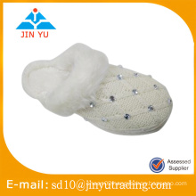 cheap fashion style indoor winter plush slipper weave slipper zapato