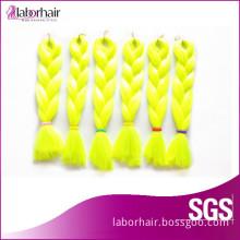 100% Kanekalon Jumbo Braid Synthetic Hair Yellow Color