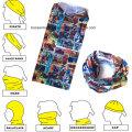 OEM Produce Customized Logo Microfibres imprimés Cheap Cartoon Multifunctional Sports Headwear Bandana Buff
