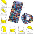 OEM Produce Customized Logo Printed Microfiber Cheap Cartoon Multifunctional Sports Headwear Bandana Buff