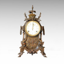 Clock Statue Baroque Bell Bronze Sculpture Tpc-023 (J)