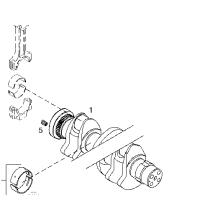 Diesel engine spare parts crankshaft deutz BFM2012 TCD2012 04292803