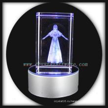 3D кристалл красоты лазером с светодиодные база