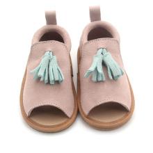 2019 Simple Leather Kinder Sandalen Meisjes Fringe Moccasins