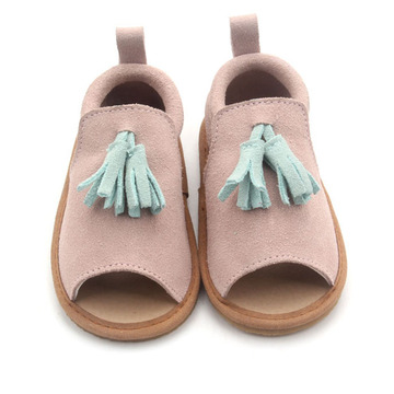 2019 Simple Leather Kinder Sandalen Meisjes Fringe Moccasins