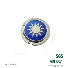 Attraktiver Metallbeutelaufhänger mit Diamant und Spiegel (HST-BHS-117)