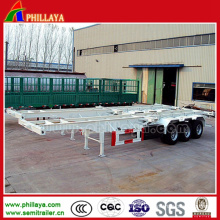 Flatbed Semi Trailer Truck Skeleton Container