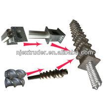 granulator segmented screw and barrels