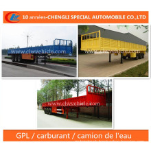 40ft 3 Essieux Paroi Laterale Semi-Remorque Trailer
