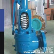 Válvula de alivio de seguridad de presión de acero inoxidable fundido a presión o de resorte de elevación completa o baja con cierre o cierre