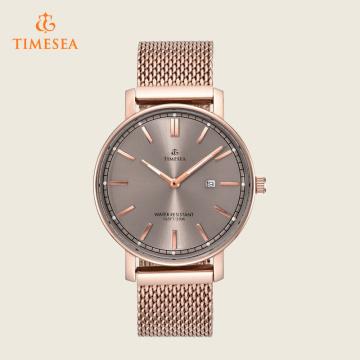 Estilo clásico de acero inoxidable reloj hombres 72403