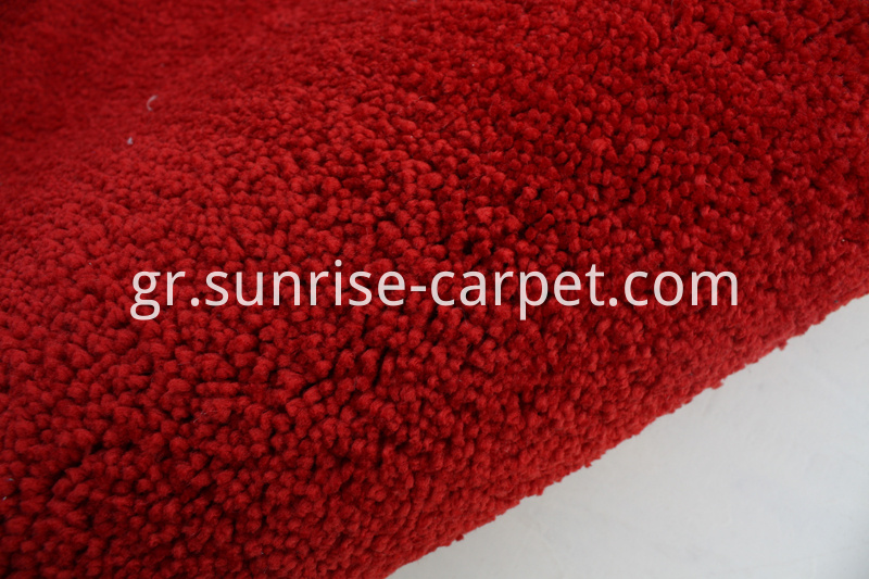Elastic Polyester Shaggy Rug Red Color