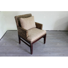 Antique Water Hyacinth Coffee and Dining Chair Móveis de vime