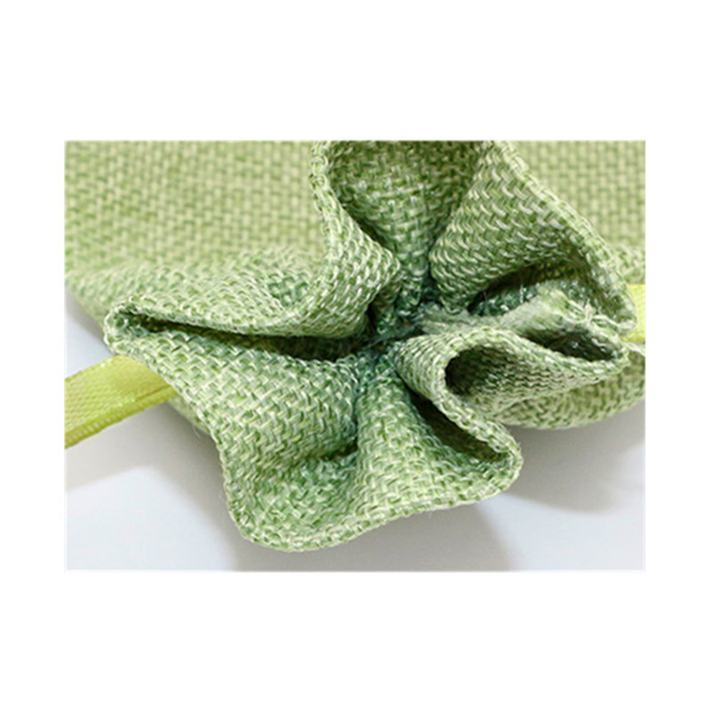 natural color jute bag with organza window gifts