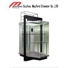 Maschinenraumloser Glaskommerzieller panoramischer Aufzug für die Besichtigung