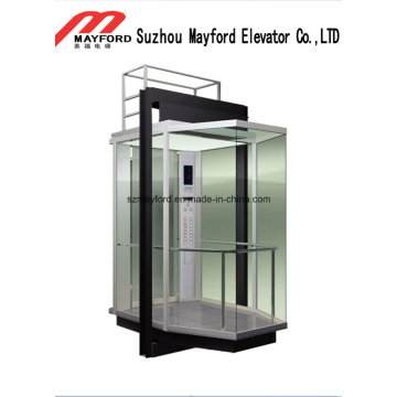 Machine Roomless Glass Commercial Panoramic Elevator for Sightseeing