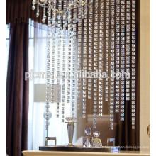 le rideau en perles en forme de mosaïque en cristal de vente chaude adaptent la longueur pour la décoration à la maison qui respecte l'environnement