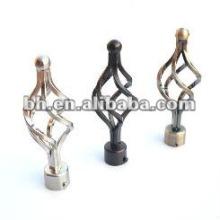 Карнизы торцевые торцевые, кованые железные карнизные наконечники, декоративные планки из железной проволоки