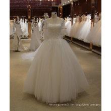 Eine Linie / Prinzessin Billiges Hochzeitskleid mit Applique Mieder