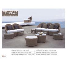 2015 modern round rattan wicker restaurant sofa set TF-6042
