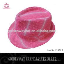 Chapéu de festa chapéus chapéu de fedora cor-de-rosa chapéus engraçados do partido