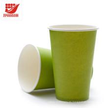 Copa de papel disponible de encargo respetuosa del medio ambiente promocional