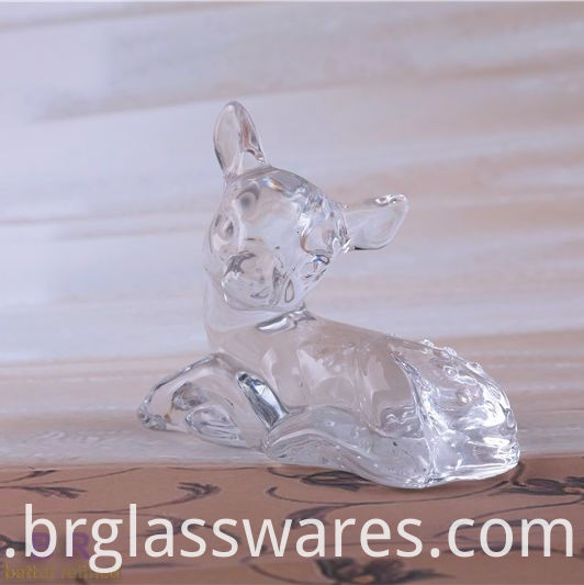 crystal glass deer