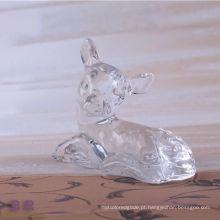 Animal em forma de veado de cristal para decoração de casa