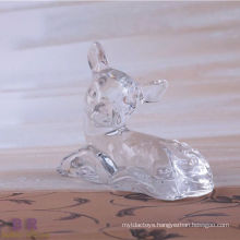 Animal Shaped Crystal Glass Deer For Home Decoration