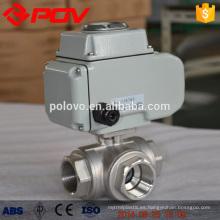 Regulaion type three way electric ball valve