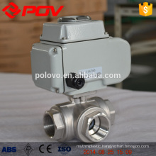 Regulaion type three way electric ball valve