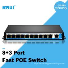 Bester Preis 250 Meter 802.3af 10 / 100M 48V 8 Port 9 Port Poe Switch