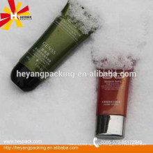 Flat cosmetic tube packaging