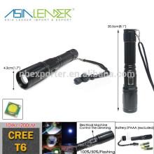 CREE T6 10W 1200 Lumen Police Rechargeable LED Torch Light Lampe de poche