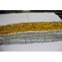Oro y plata brillante PET cadena de oropel / decoración del partido