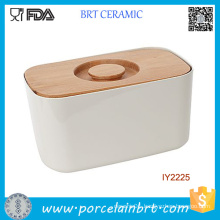Amazing Container with Cutting Board Ceramic Storage Box
